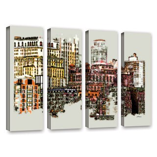 ArtWall 'Linda Parker's NYC Manhattan Cluster' 4-piece Gallery Wrapped Canvas Set
