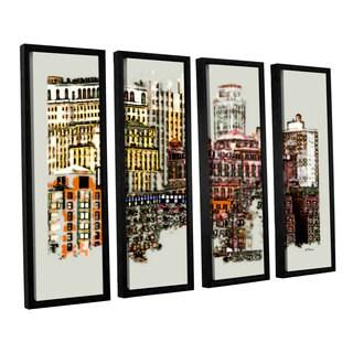 ArtWall 'Linda Parker's NYC Manhattan Cluster' 4-piece Floater Framed Canvas Set