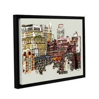 ArtWall 'Linda Parker's NYC Manhattan Cluster' Gallery Wrapped Floater-framed Canvas