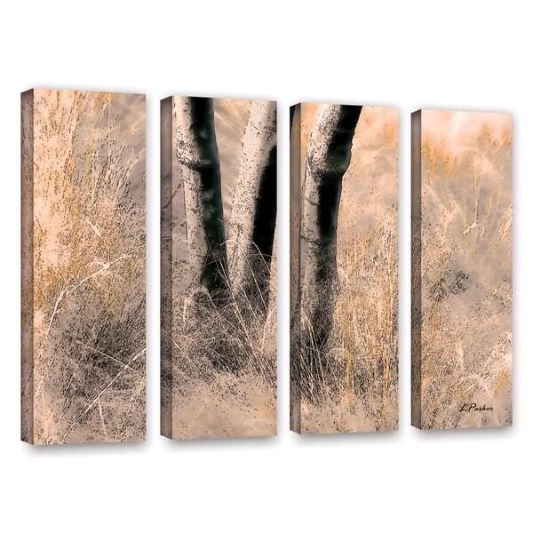ArtWall 'Linda Parker's Desert Grasses II ' 4-piece Gallery Wrapped Canvas Set