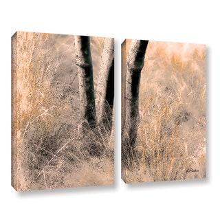 ArtWall 'Linda Parker's Desert Grasses II ' 2-piece Gallery Wrapped Canvas Set