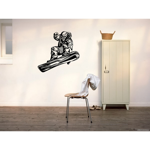 Shop Snowboarding Wall Art Sticker Decal - Free Shipping On Orders ...