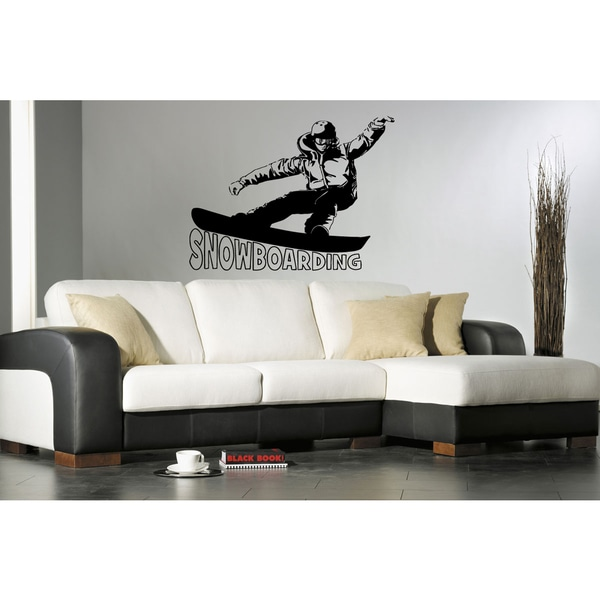 Snowboarding Sport Inscription Wall Art Sticker Decal