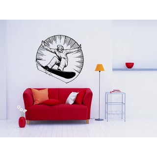 Snowboarding Sport in frame Wall Art Sticker Decal