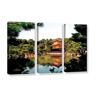 ArtWall 'Linda Parker's Kinkakuji' 3-piece Gallery Wrapped Canvas Set
