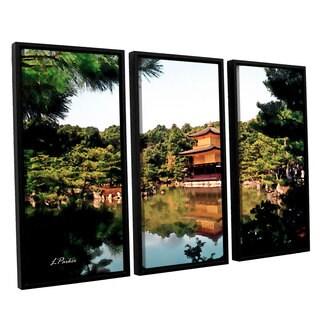 ArtWall 'Linda Parker's Kinkakuji' 3-piece Floater Framed Canvas Set