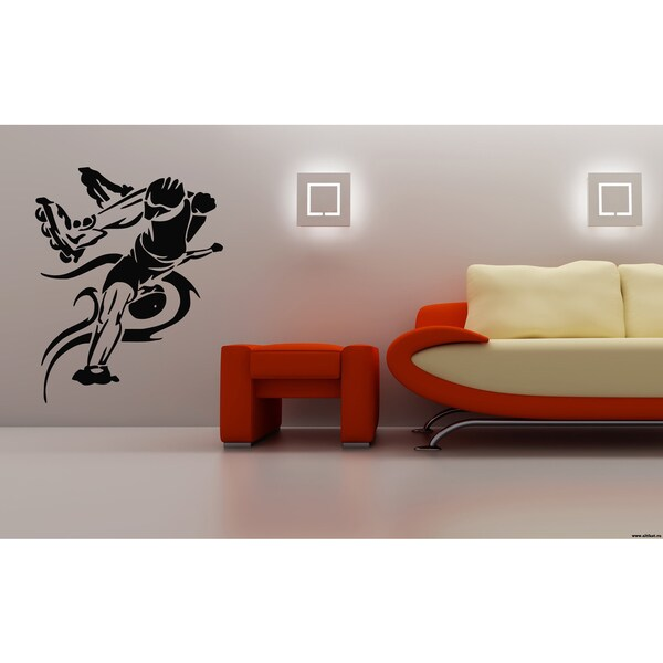 Roller Man Bounce Sport Dance Wall Art Sticker Decal