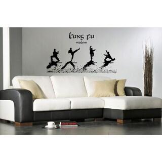Kung Fu Karate Chinese Combat Athletes Wall Art Sticker Decal