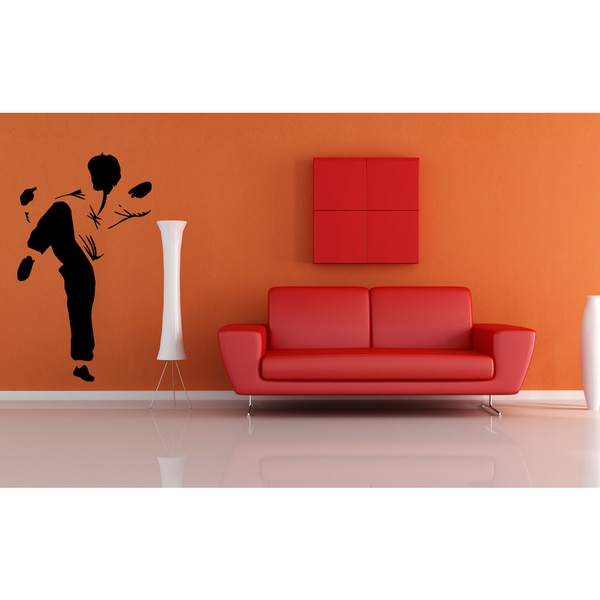 Kung Fu Karate Chinese Combat Silhouette Wall Art Sticker Decal