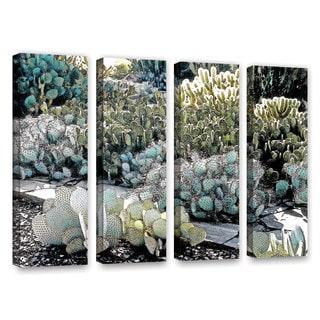 ArtWall 'Linda Parker's Botanical Garden' 4-piece Gallery Wrapped Canvas Set