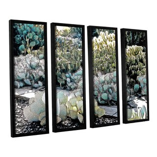 ArtWall 'Linda Parker's Botanical Garden' 4-piece Floater Framed Canvas Set