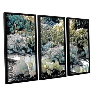 ArtWall 'Linda Parker's Botanical Garden' 3-piece Floater Framed Canvas Set