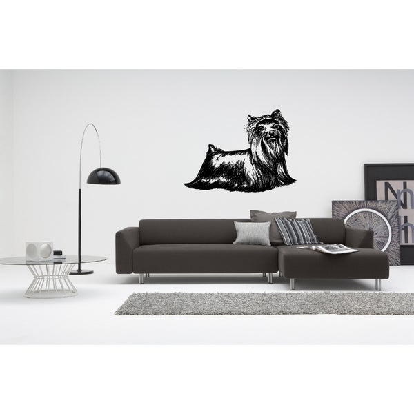 Shop Yorkshire Terrier Dog Wall Art Sticker Decal - Free Shipping On ...