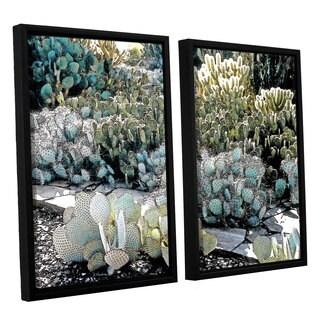 ArtWall 'Linda Parker's Botanical Garden' 2-piece Floater Framed Canvas Set