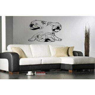 English Bulldog Wall Decal Dog Wall Art Sticker Decal