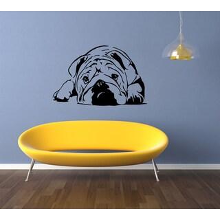 English Bulldog Dog Cutie Wall Art Sticker Decal