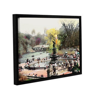 ArtWall 'Linda Parker's Bethesda Fountain' Gallery Wrapped Floater-framed Canvas