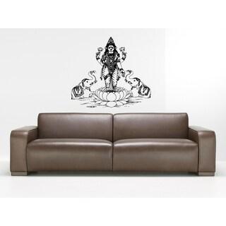 Lakshmi Hindu goddess of wealth love Wall Art Sticker Decal
