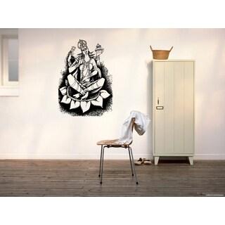 Lakshmi Hindu goddess of wealth Mythology Lotus Wall Art Sticker Decal
