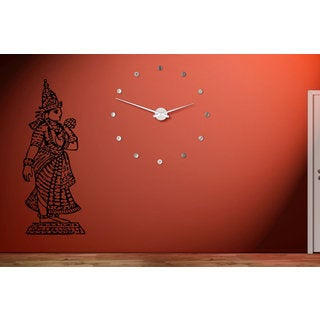 Lakshmi Hindu goddess a statue Wall Art Sticker Decal