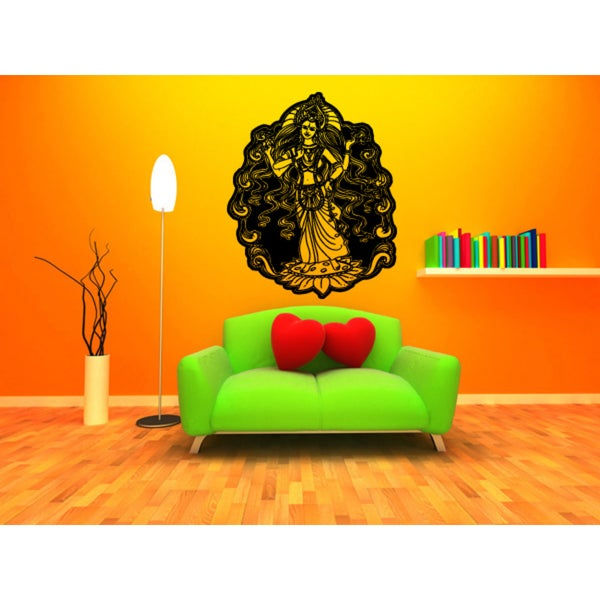 Lakshmi Hindu goddess Princess Goddess Wall Art Sticker Decal