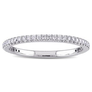 Miadora Signature Collection 14k White Gold 1/5ct TDW Diamond Eternity Ring