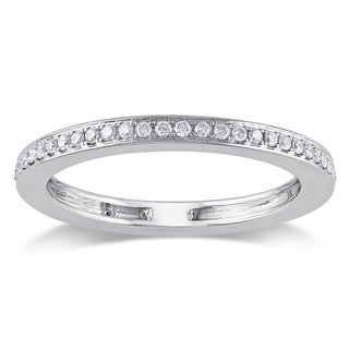 Miadora Signature Collection 14k White Gold 1/3ct TDW Diamond Eternity Ring