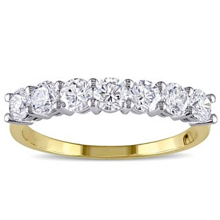 Miadora Signature Collection 14k Two-tone Gold 1ct TDW Diamond Anniversary Ring (F-G, SI1-SI2)