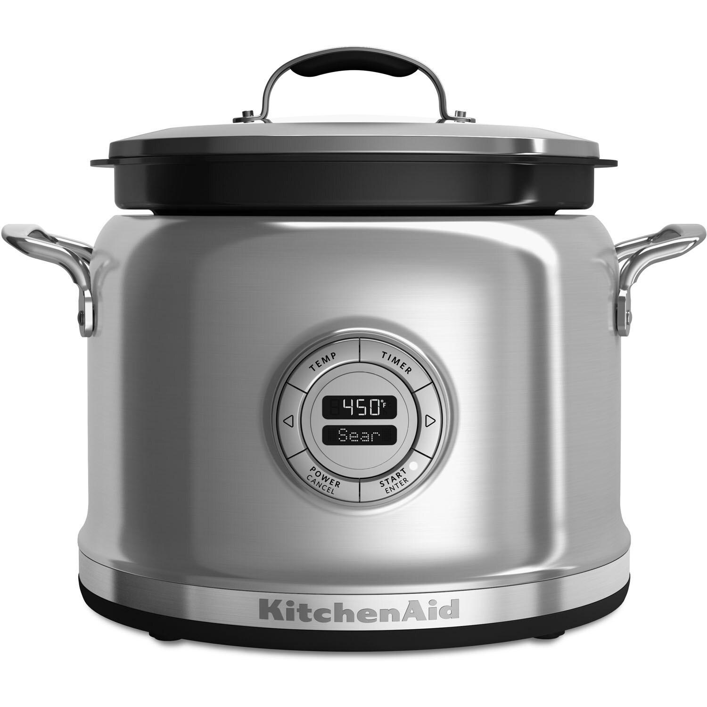 KitchenAid KMC4241SS 4-Quart Multi-Cooker, Stainless Stee...