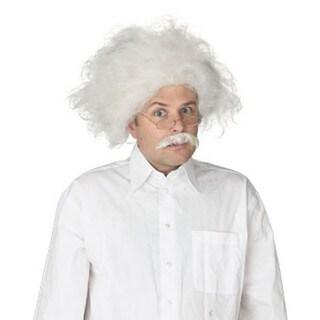 Scientist Crazy White Mustache Wig Costume