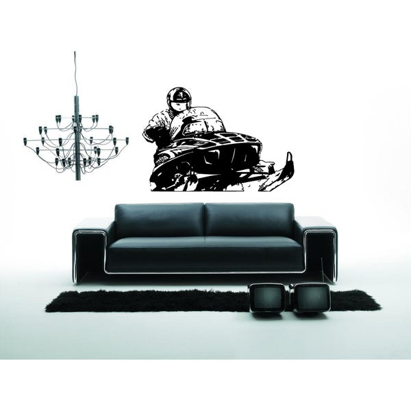 Snowmobile Extreme Sport Snow Wall Art Sticker Decal