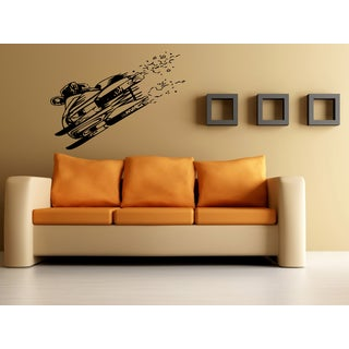 Snowmobile Extreme Sport Speed Wall Art Sticker Decal