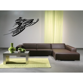 Snowmobile Extreme Sport Speed Track Wall Art Sticker Decal