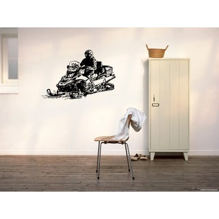 Snowmobile Extreme Sport Speed draw a picture Wall Art Sticker Decal