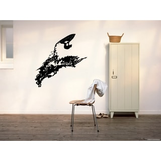 Snowmobile Extreme Sport jump up Wall Art Sticker Decal