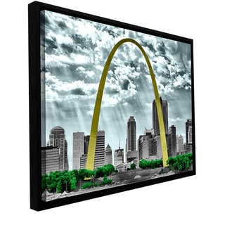 ArtWall 'Revolver Ocelot's St. Louis ' Gallery Wrapped Floater-framed Canvas