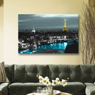 ArtWall 'Revolver Ocelot's Paris' Gallery Wrapped Floater-framed Canvas