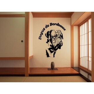 Dogue de Bordeaux Puppy Dog Wall Art Sticker Decal