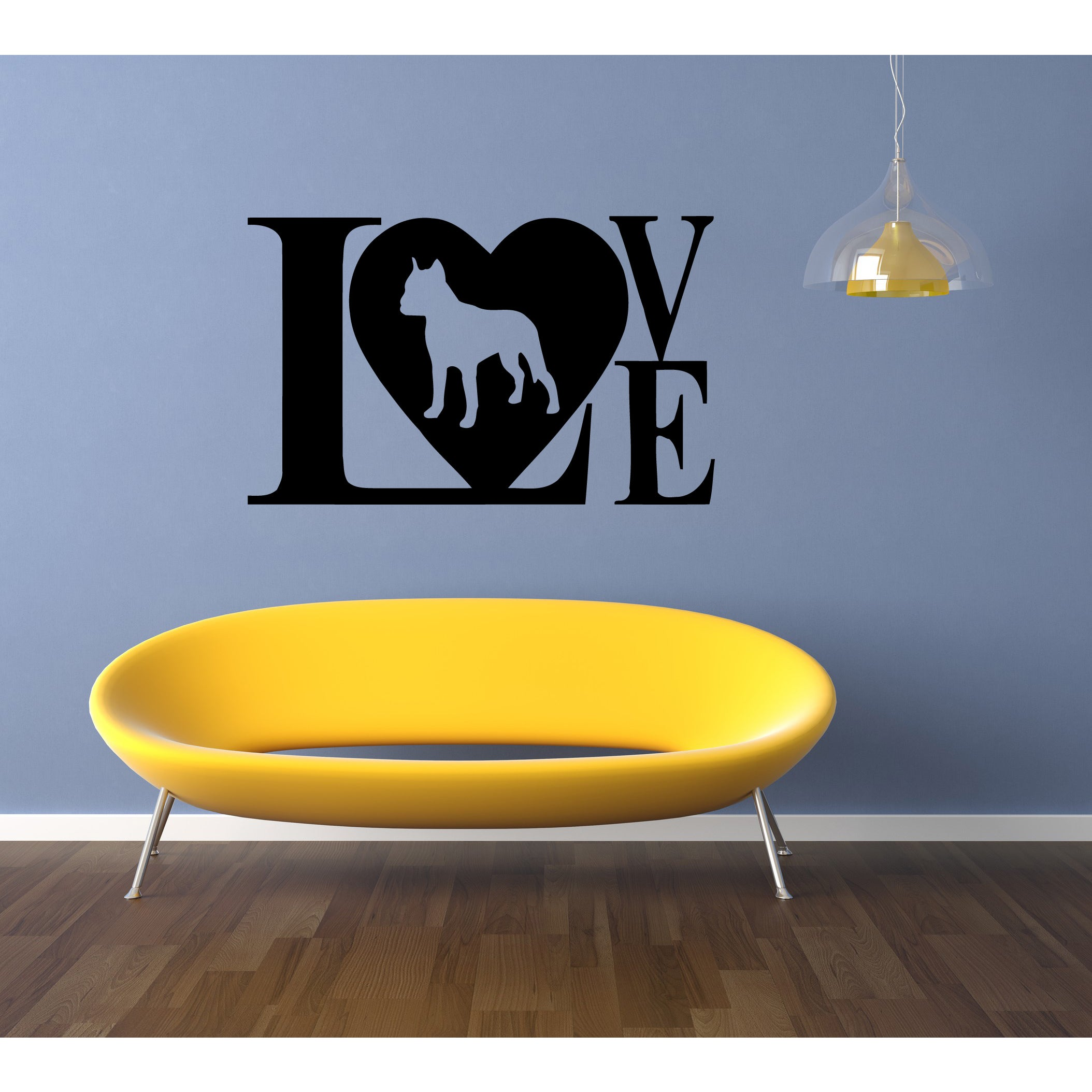 Pitbull Dog Puppy Breed Pet Love Wall Art Sticker Decal | eBay