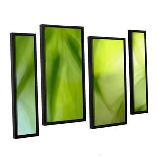 ArtWall 'Cora Niele's Zen' 4-piece Floater Framed Canvas Staggered Set