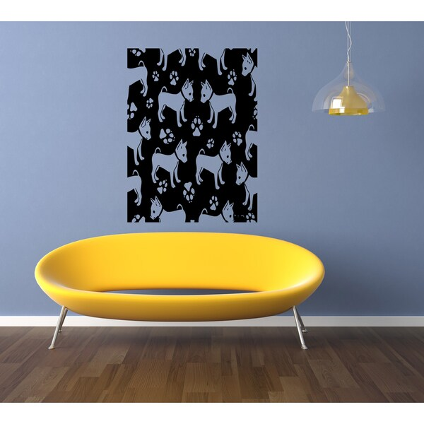 Shop English Toy Terrier Dog Template Wall Art Sticker Decal - Free