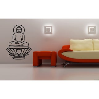 Gautama Buddha Siddhrtha Lotus Flower Wall Art Sticker Decal