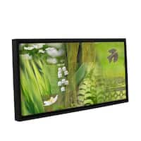 ArtWall 'Cora Niele's Spring' Gallery Wrapped Floater-framed Canvas