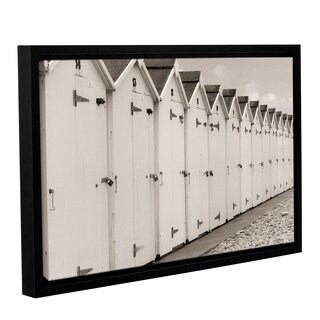 ArtWall 'Cora Niele's Sea Side Beach Cabins' Gallery Wrapped Floater-framed Canvas