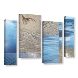 ArtWall 'Cora Niele's Sand Sea' 4-piece Gallery Wrapped Canvas Staggered Set - Multi