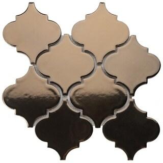 SomerTile 10.5x10.5-inch Aspect Lantern Burnished Bronze Porcelain Mosaic Floor and Wall Tile (10 tiles/7.7 sqft.)