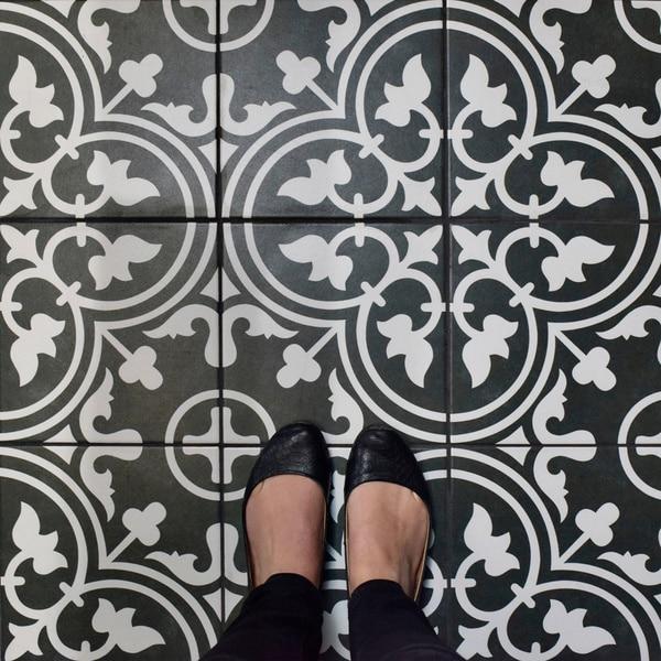 Somertile art black porcelain floor and wall for 16 inch floor tiles