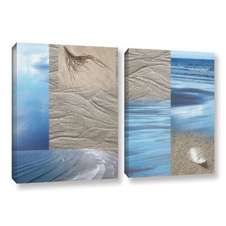 ArtWall 'Cora Niele's Sand Sea' 2-piece Gallery Wrapped Canvas Set