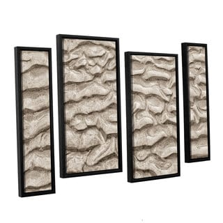 ArtWall 'Cora Niele's Sand Patterns' 4-piece Floater Framed Canvas Staggered Set
