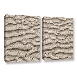 ArtWall 'Cora Niele's Sand Patterns' 2-piece Gallery Wrapped Canvas Set